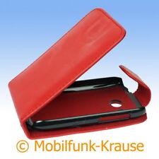 Flip Case Etui Handytasche Tasche Hülle f. HTC Desire C (Rot)