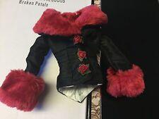 Broken Petals COAT ~ Tonner Evangeline Ghastly - doll fashion - fur and flowers