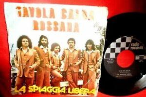 LA SPIAGGIA LIBERA Tavola calda 45rpm 7' PS 1976 ITALY Psych Funk Rare