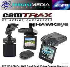 CamTRAX Car Dash Cam HD DVR Road Video Camera Night Vision LED Screen Mount Kit