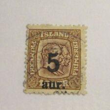 Iceland Scott #131 Θ fine used, mute cancel  + 102 card, superfleas