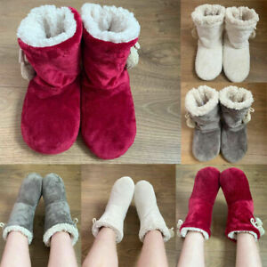 Ladies Slippers Womens Winter Warm Fur Ankle Boots Booties Size UK 3 4 5 6 7 8