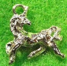 50Pcs. WHOLESALE Tibetan Silver-Plated 3D HORSE Charms Pendants Ear Drops Q0206