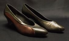 """Leslie Fay 2-tone dress pumps with 3"""" heel - size 9 B"""
