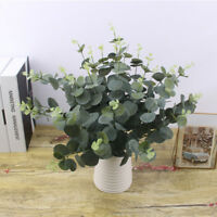 Nice Artificial Fake Silk Flower Eucalyptus Plant Green Leaves Hotel Home Decor~