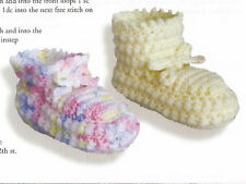 Crochet Pattern ~ Very Special Baby Booties ~ Instructions