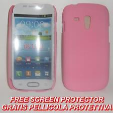 Pellicola+custodia BACK COVER ROSA per Samsung I8190 Galaxy S3 S 3 mini (H5)