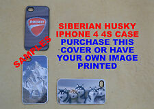 PERSONALISED SIBERIAN HUSKY I PHONE 4 4S WHITE MOBILE PHONE COVER IPHONE CASE