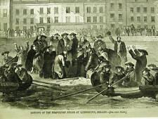 NEAPOLITAN EXILES QUEENSTOWN IRELAND 1859 Print Matted