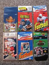 NFL and NBA Card Display Box Collection Plus Cards.  1979-1992