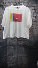 Vintage 90's Nike Men's T-Shirt Imagine Believe Become USA Made White Large