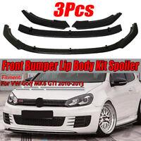 For VW Golf MK6 GTI 2010-2013 Glossy Black Front Bumper Lip Spoiler Splitter