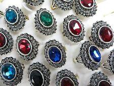 US Seller - 15 rings large rhinestone marcasite vintage jewelry wholesale ring