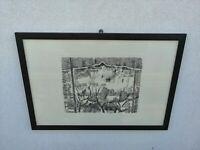 ILARIO ROSSI incisione litografia degli anni settanta allievo Giorgio Morandi