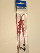 """Greenbrier International 26"""" Pink Beaded Eyeglass Cord"""