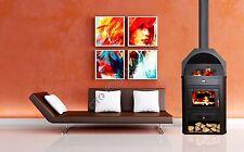 Poêle à bois cheminée multi fuiel brûleur foyer avec niche PRITY 15 KW NEUF
