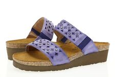 NAOT 234941 Women's Susan Elegant Sandals Blue Waves Sky Slides Sz. 6 (EU37)
