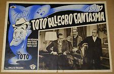 fotobusta film TOTO' ALLEGRO FANTASMA - Totò Luigi Pavese 2a ediz. 1949