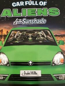 Car Full Of Aliens Car Shade Windshield Space