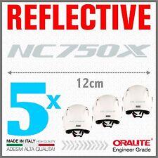 5x NC750X white HONDA MOTO ADESIVI PEGATINA STICKERS AUTOCOLLANT helmet casco