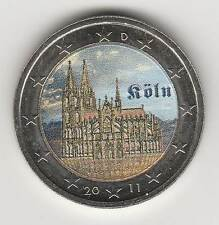 ALLEMAGNE  2011A - 2 EURO couleur, RHENANIE/WESTPHALIE : Cathédrale de Cologne