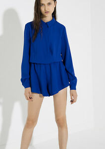 NEW THE FIFTH LABEL BLUE PLAYSUIT  SIZE LARGE/12