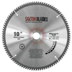 Saxton 255mm x 100T x 25.4 Circular Saw Blade Aluminium Laminate fits Evolution