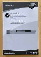 Philips DVD Video Player DVD 640 Anleitung BDA Owner !Manual neuwertig