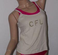CFL Top Gr. 164/170 in beige 100% Baumwolle, rundhals, Trägertop, Ärmellos