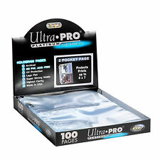 50 ULTRA PRO Postcard Photo Album  2-POCKET Pages 5 x 7 Sheets Protectors New