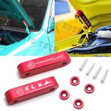 JDM Red Billet Hood Vent Spacer Riser Modification Kit + Bolts For Acura Honda