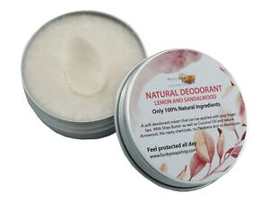 100% Natural Deodorant Lemon & Sandalwood, 1 Tub Of 70g