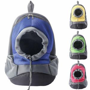 Pet Dog Cat Backpack Carrier Travel Bag Front Mesh Net Double Sling Shoulder Pup