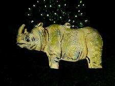 2002 Krewe of Bacchus Rino Rhinoceros Float Bead Mardi Gras Journeys Africa