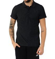 Adidas Essentials 3 Polo de Rayas Camisas Hombre Manga Corta Camiseta Top NEGRO