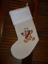Gingerbread Man Ninjabread Man HANDMADE EMBROIDERED CHRISTMAS STOCKING*FREE SHIP