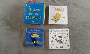 Lot de 4 livres d'éveil enfant sur les couleurs