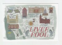 Mint Map Postcard of Liverpool (version 2) by Star Editions