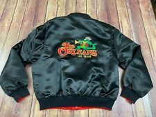 Vtg The Orleans Las Vegas Hotel Men's Reversible Black/Red Satin Jacket - Large