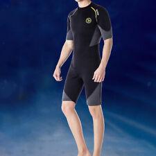 New listing Men 1.5mm Wetsuit Shorty Swimwear Back Zip Neoprene for Diving Adult XL