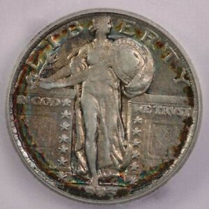 1923-P 1923 Standing Liberty Quarter ICG EF40 XF40 Awesome color! WOW!