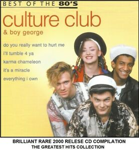 Culture Club Very Best Essential Greatest Hits Collection 80's Pop CD Boy George