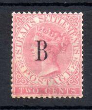 Straits Settlements QV 2c Bangkok mint MH SG#15 WS13670
