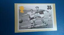 FOOTBALL LEGENDS 1996 DUNCAN EDWARDS POST CARD STAMP DESIGNED BY HOWARD BROWN