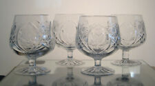 """COUNTRY ROSE SEARS CRYSTAL Brandy Snifters 4 1/2"""", SET/4, Multi Sets Avail"""