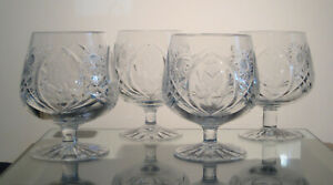 "COUNTRY ROSE SEARS CRYSTAL Brandy Snifters 4 1/2"", SET/4, Multi Sets Avail"