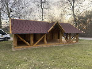 Log Gazebo 4x8m, Bespoke Large Gazebo, Wooden Pavilion, Pergola, Hot Tub Shelter