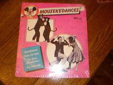 Walt Disney 45/PICTURE SLEEVE Mousekedances SEALED