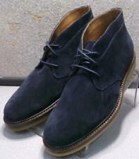 300877 TSPBT50 Men's Shoes Size 9 M Navy Suede Lace Up Boots H.S. Trask