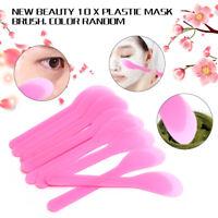 10PC Plastic Makeup Beauty DIY Facial Mask Brush Spoon Stick Tool Homemade New